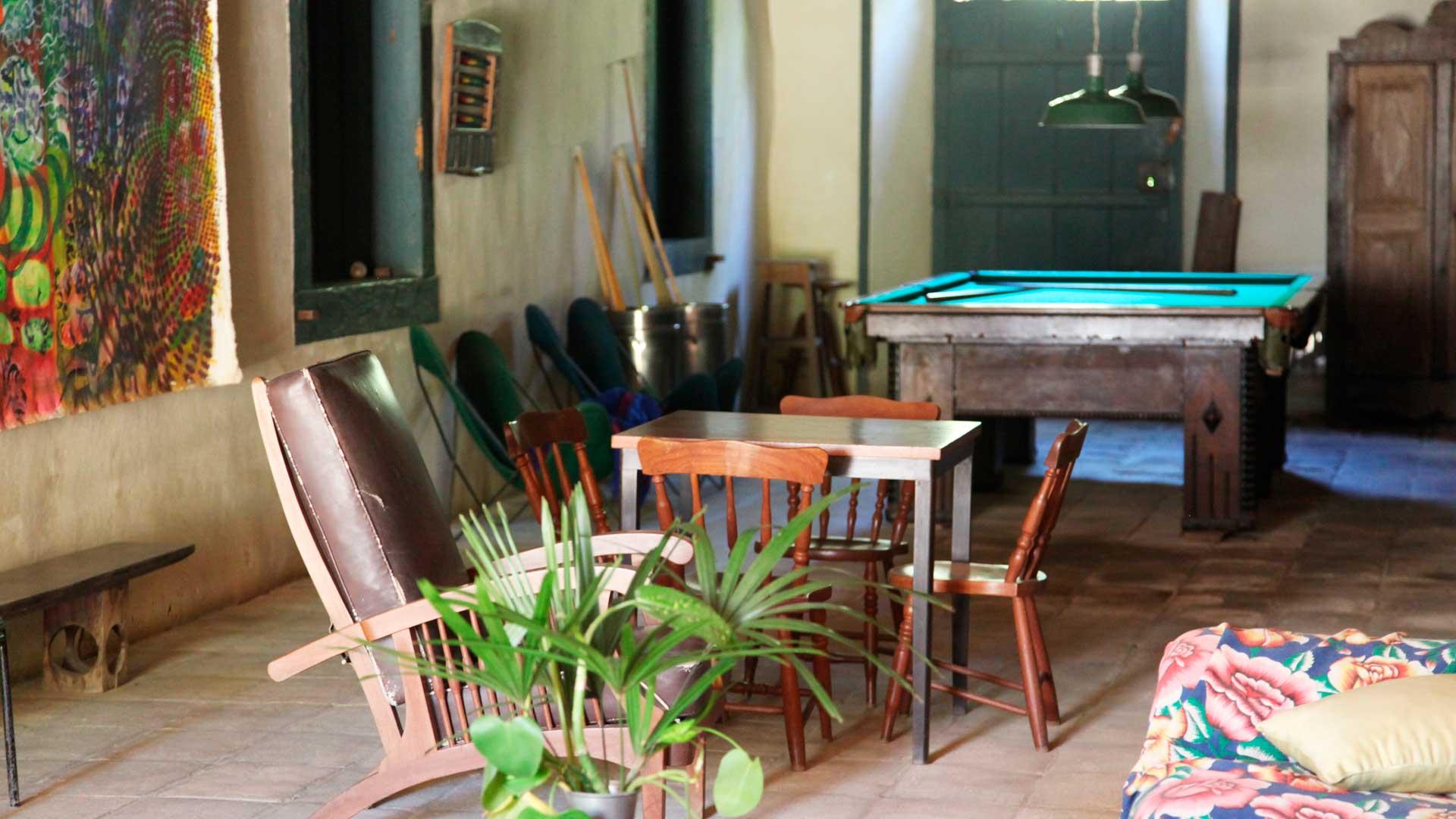 Sala de jogos - Casa da Fazenda Vargem Grande - Areias/SP