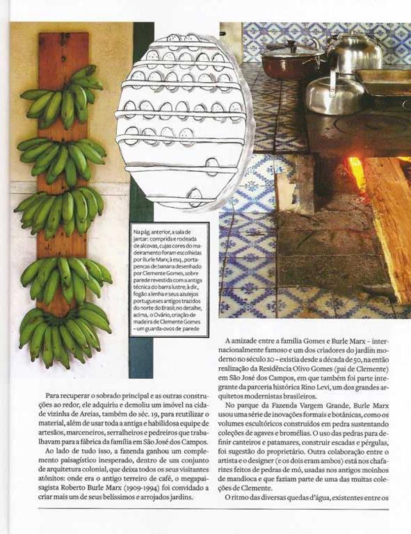 Matéria publicada na revista Joyce Pascovitch da Fazenda Vargem Grande - Areias-SP