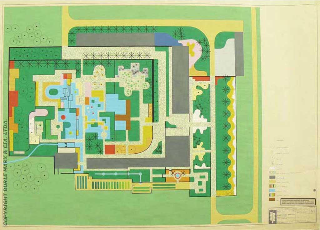 Projetos do Jardim Roberto Burle Marx - Fazenda Vargem Grande - Areias/SP